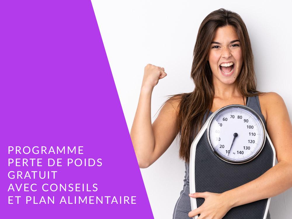 PROGRAMME NUTRITIONNEL 4 SEMAINES PERTE DE POIDS FEMME